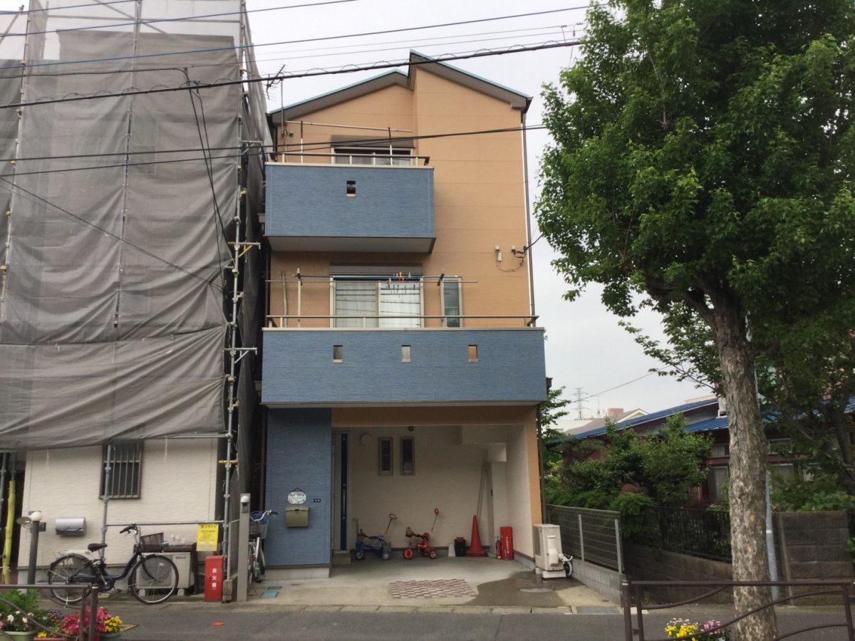 川崎市中原区Y様邸で外壁、屋根の塗替え施工