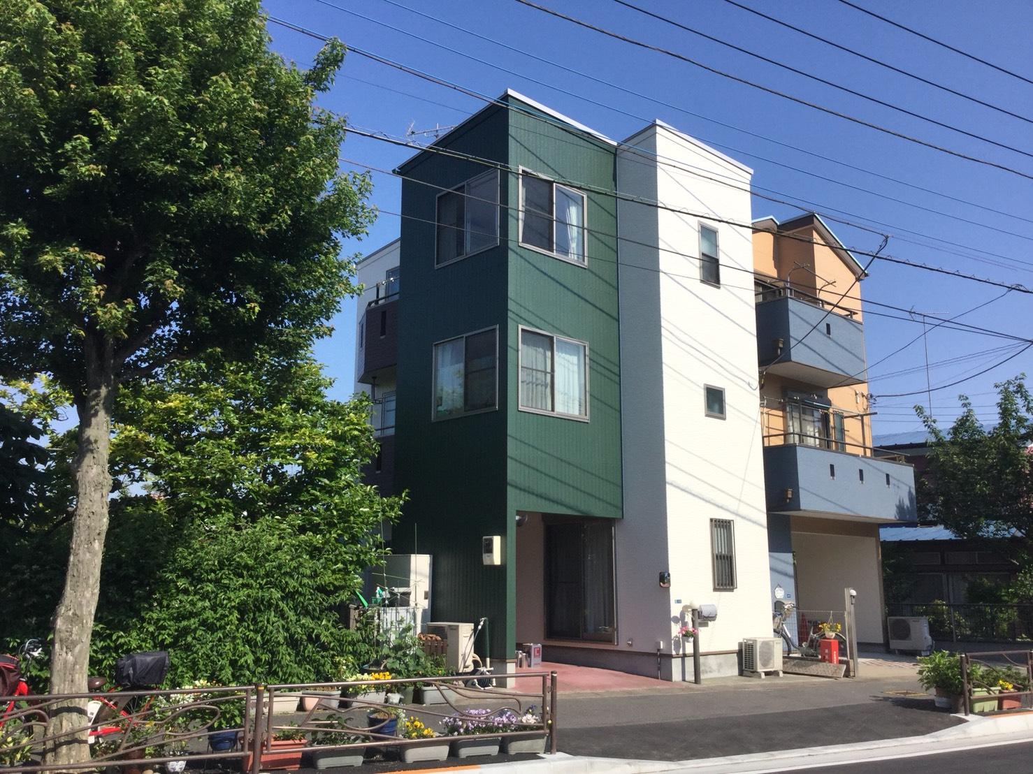 川崎市中原区I様邸で外壁、屋根塗装
