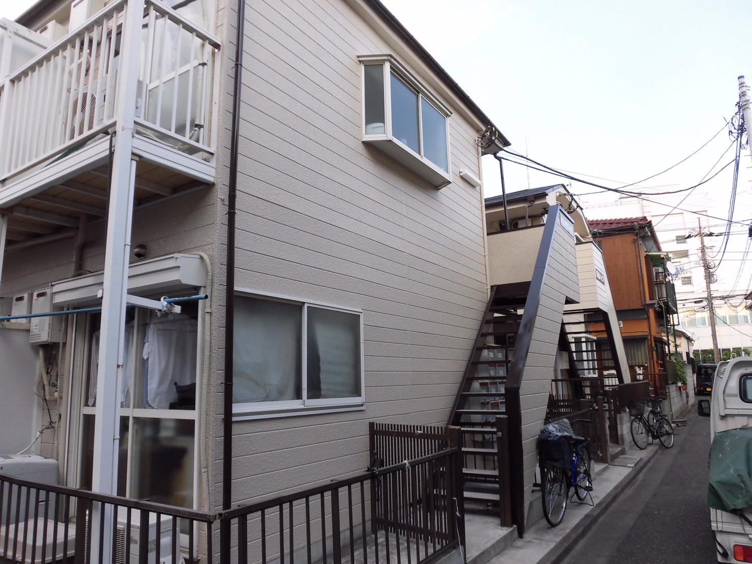川崎市幸区のKアパートで外壁屋根の塗替え!