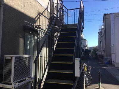 川崎市中原区で鉄骨階段の塗装をしました‼️