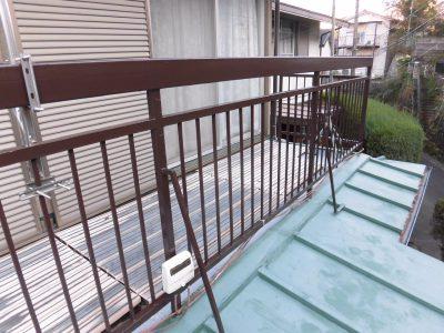 川崎市多摩区で鉄骨ベランダの塗装