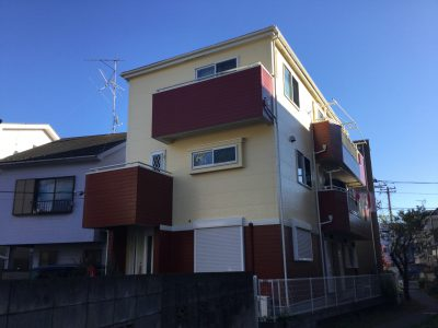 川崎市中原区で外壁・屋根塗装をしました!