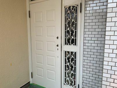 アルミサッシの玄関扉塗装